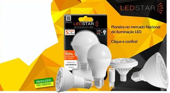 Lâmpadas LED LedStar distribuidor revenda loja revendedores lojistas