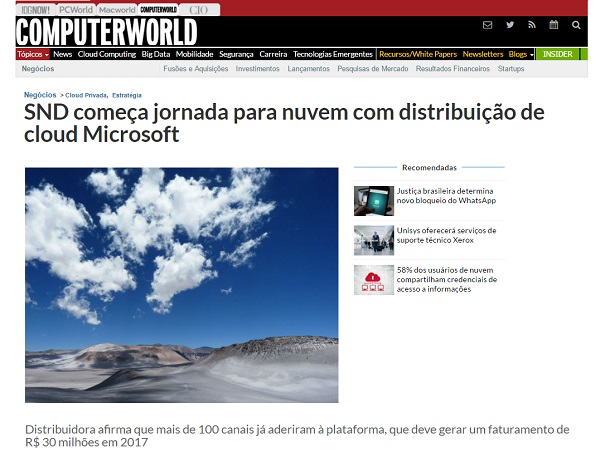 Reportagem Computerworld
